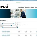 Marketing Maschinenbau - Website-hyco-Leistungsdaten-Pumpen