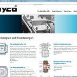 Marketing Maschinenbau - Website-hyco-Technologie
