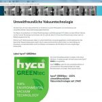 Marketing Maschinenbau - Website-hyco-Vakuumtechnologie