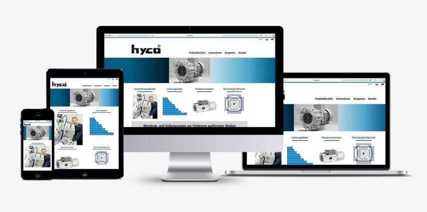 Marketing Maschinenbau -Website Konzept und Websiteerstellung für hyco