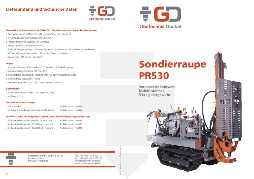 Sondierraupe PR530